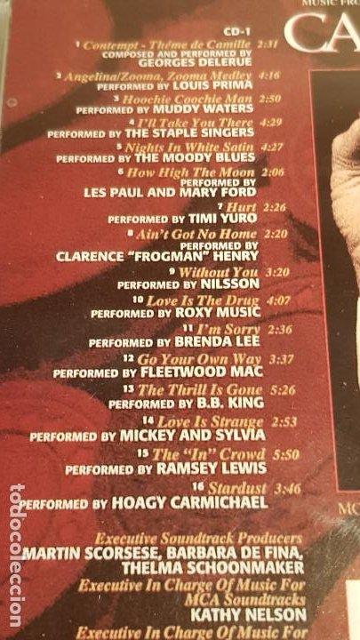 CDs de Música: B.S.O. / CASINO / VARIOS ARTISTAS / DOBLE CD - MCA / 31 TEMAS / CALIDAD LUJO. - Foto 5 - 188504030