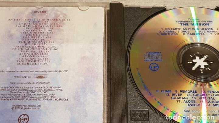 CDs de Música: B.S.O. / THE MISSION / ENNIO MORRICONE / CD - VIRGIN-UK / 20 TEMAS / CALIDAD LUJO - Foto 2 - 188505993