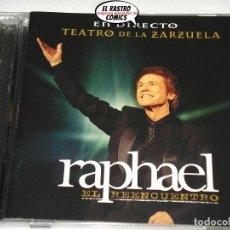 CDs de Música: RAPHAEL, TEATRO DE LA ZARZUELA, EL REENCUENTRO, DOBLE, CD + DVD, AÑO 2012, MUY DIFICIL. Lote 188509078