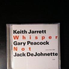 CDs de Música: KEITH JARRETT. GARY PEACOCK. JACK DEJOHNETTE. WHISPER NOT. LIVE IN PARIS 1999. DOBLE CD. Lote 188555775