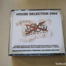 CDs de Música: LOVE SHOW. SEXY MUSIC. HOUSE SELECTION 2004. Lote 188560871