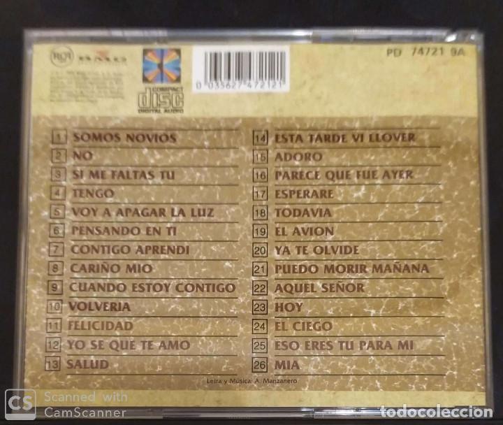 CDs de Música: ARMANDO MANZANERO (SUS 26 GRANDES BOLEROS) CD 1990 - Foto 2 - 136404546