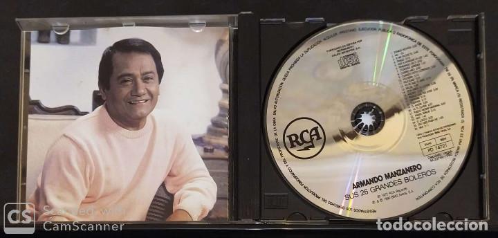 CDs de Música: ARMANDO MANZANERO (SUS 26 GRANDES BOLEROS) CD 1990 - Foto 3 - 136404546