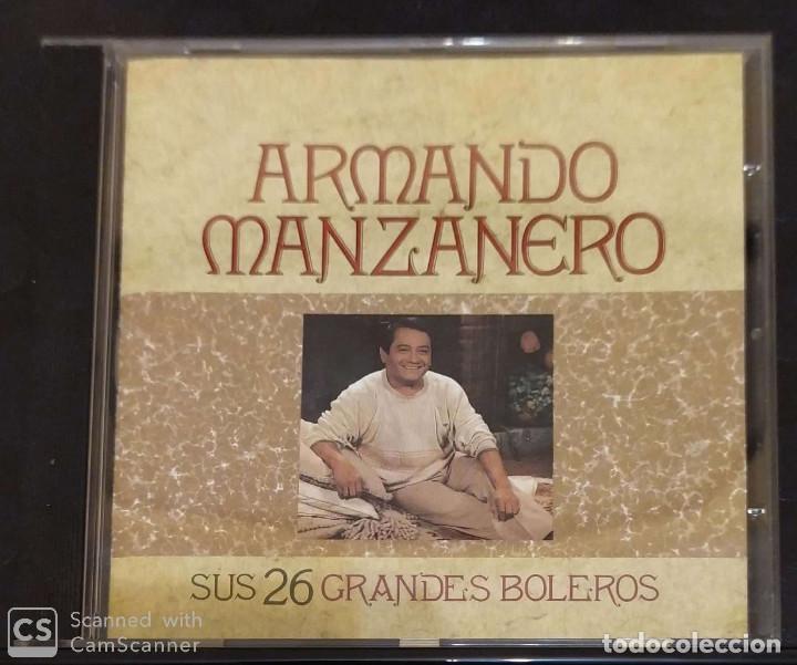 ARMANDO MANZANERO (SUS 26 GRANDES BOLEROS) CD 1990 (Música - CD's Melódica )