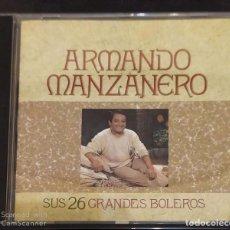 CDs de Música: ARMANDO MANZANERO (SUS 26 GRANDES BOLEROS) CD 1990. Lote 136404546