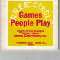 CDs de Música: INNER CIRCLE - GAMES PEOPLE PLAY (CDSINGLE DIGIPACK, PROMOCIONAL WEA 1994). Lote 188640557