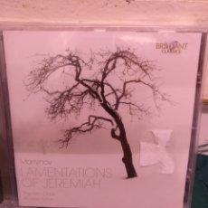 CDs de Música: MARTINOV, LAMENTATIONS OF JEREMIAH, BRILLIANT PRECINTADO. Lote 188737752