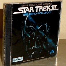 CDs de Música: JAMES HORNER. STAR TREK III. THE SEARCH FOR SPOCK. CD CRESCENDO. BSO. NUEVO Y PRECINTADO.. Lote 188796951