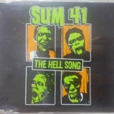 CDs de Música: SUM 41 - THE HELL SONG - CD PROMOCIONAL - 2002 - EU - LA CANCIÓN DEL INFIERNO. Lote 189163028