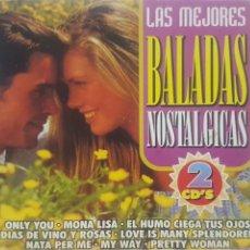 CDs de Música: LAS MEJORES BALADAS NOSTÁLGICAS - 2 CDS - CANCIONES DE AMOR - EDITA MAYOFON - BARCELONA . Lote 189167663