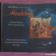 CDs de Música: B.S.O. ALADDIN (BANDA SONORA ORIGINAL DE LA PELICULA EN INGLES) CD 1993 - ALAN MENKEN - DISNEY. Lote 189219827
