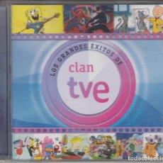 CDs de Música: LOS GRANDES ÉXITOS DE CLAN TVE CD 2009 BOB ESPONJA ABEJA MAYA LOS LUNNIS POCOYÓ. Lote 189360191