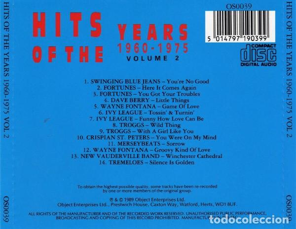 CDs de Música: Hits Of The Years 1960 - 1975 Volume 2 - Foto 2 - 189399950