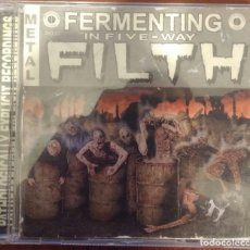 CDs de Música: FERMENTING IN FIVE-WAY FILTH (PATHOLOGICALLY EXPLICIT, 2009) /// DEVOURMENT DYING FETUS SUFFOCATION. Lote 189501791