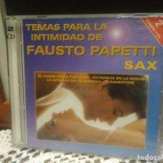 CDs de Música: FAUSTO PAPETTI DOBLE CD TEMAS PARA LA INTIMIDAD PEPETO. Lote 189510242