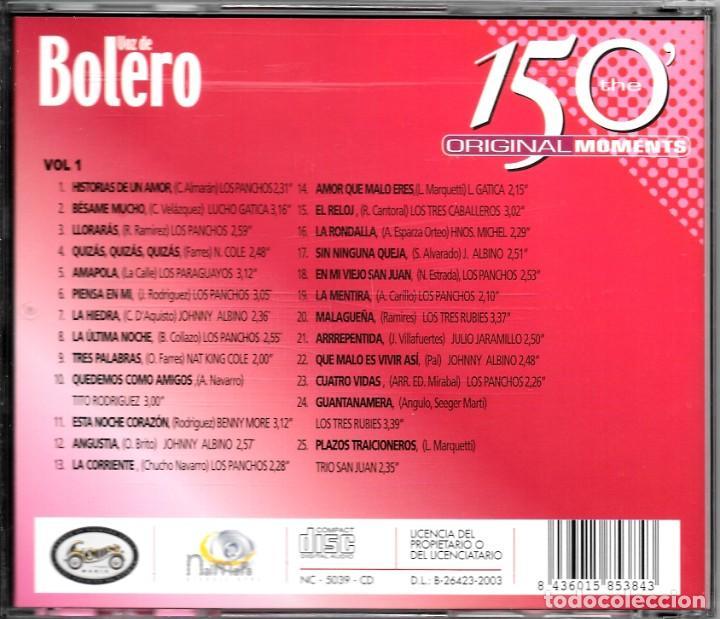 CDs de Música: 2 CD VOZ DE BOLERO 50 BOLEROS - Foto 3 - 45114071