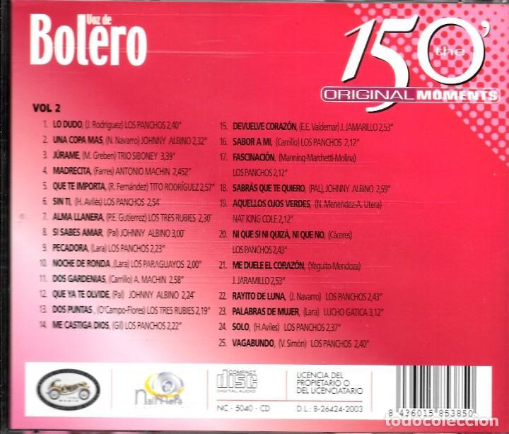 CDs de Música: 2 CD VOZ DE BOLERO 50 BOLEROS - Foto 4 - 45114071