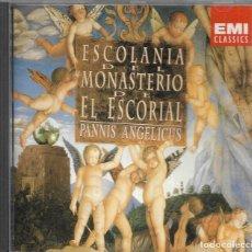 CDs de Música: == CD152 - ESCOLANIA DEL MONASTERIO DE EL ESCORIAL - PANNIS ANGELICUS. Lote 189535521