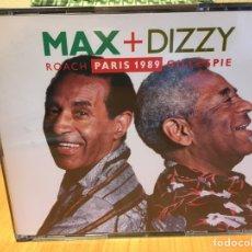 CDs de Música: MAX ROACH + DIZZY GILLESPIE - PARIS 1989 (2XCD, ALBUM) (A&M RECORDS)396 404-2. Lote 189677916