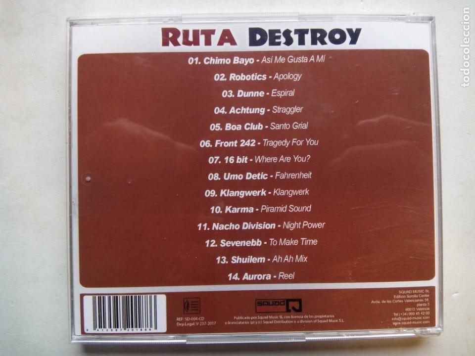 CDs de Música: RUTA DESTROY. LOS MEJORES TEMAS DE LA RUTA. CD SQUAD MUSIC SD-004-CD. ESPAÑA 2017. CHIMO BAYO. DUNNE - Foto 3 - 189747062