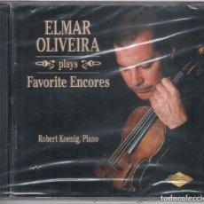 CDs de Música: ELMAR OLIVEIRA INTERPRETA PIEZAS FAVORITAS PARA VIOLÍN NUEVO PRECINTADO. Lote 189877607