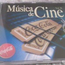 CDs de Música: DVD - MÚSICA DE CINE VOL.II - BANDAS SONORAS DE PELÍCULAS BSO -CD PROMOCIONAL COCA - COLA . Lote 189886331