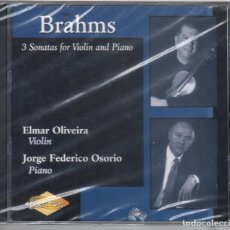 CDs de Música: BRAHMS LAS 3 SONATAS PARA VIOLÍN Y PIANO OLIVEIRA OSORIO NUEVO PRECINTADO. Lote 189892846