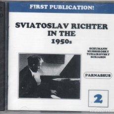 CDs de Música: SVIATOSLAV RICHTER IN THE 1950'S. VOL.2. 2 CDS NUEVO PRECINTADO. Lote 189896582