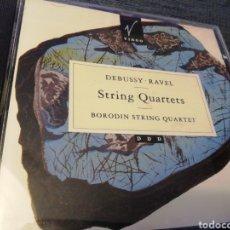 CDs de Música: DEBUSSY - RAVEL. STRINGS QUARTETS. BORODIN STRING QUARTET. VIRGO.. Lote 190017353