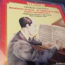 CDs de Música: GEORGE GERSHWIN. RHAPSODY IN BLUE. AN AMERICAN IN PARÍS. PIANO CONCERTO IN F.. Lote 190017625
