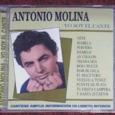 CDs de Música: ANTONIO MOLINA (YO SOY EL CANTE) CD 2001 - 20 TEMAS. Lote 190277975