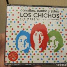 CDs de Música: LOS CHICHOS - CANALLEO, RUMBA Y JALEO LOS CHICHOS SUS MEJORES CANCIONES - 2 CD + DVD. Lote 190301477