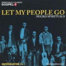 CDs de Música: LET MY PEOPLE GO - NEGRO SPIRITUALS -2 CDS - ROOTS COLLECTION 9 - NUEVO Y PRECINTADO. Lote 190346277
