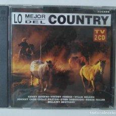 CDs de Música: LO MEJOR DEL COUNTRY. 2 CDS. Lote 190371277