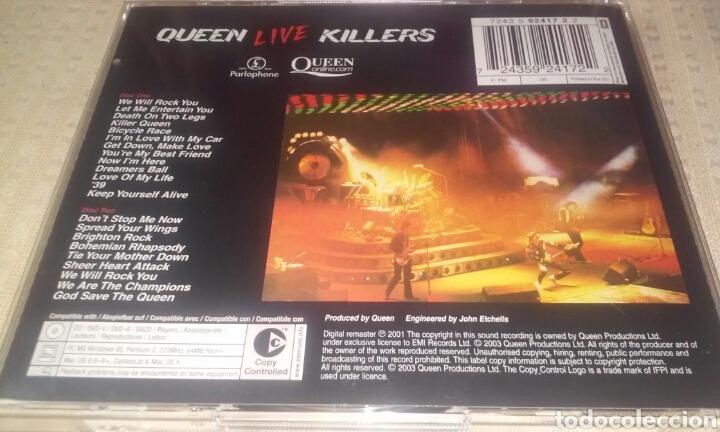 CDs de Música: QUEEN LIVE KILLERS ( LOTE DE 2 CDS) - Foto 4 - 190383617