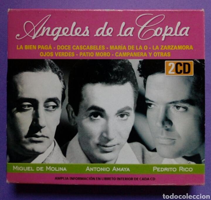 ÁNGELES DE LA COPLA - MIGUEL DE MOLINA, ANTONIO AMAYA, PEDRITO RICO 2 CD (Música - CD's Flamenco, Canción española y Cuplé)