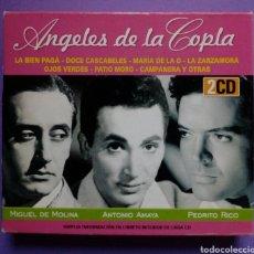 CDs de Música: ÁNGELES DE LA COPLA - MIGUEL DE MOLINA, ANTONIO AMAYA, PEDRITO RICO 2 CD. Lote 190400598