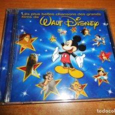 CDs de Música: LES PLUS BELLES CHANSONS DES GRANDES FILMS DE WALT DISNEY BANDAS SONORAS EN FRANCES CD RARO. Lote 190418860