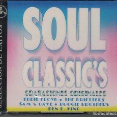 CDs de Música: SOUL CLASSICS - VARIOS (CAJA CON 2 CD'S, BARSA PROMOCIONES 1995, PRECINTADO). Lote 190450231