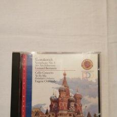 CDs de Música: SHOSTAKOVITCH. SYMPHONY N° 5. CELLO CONCERTO YO-YO MA. CBS MASTERWORKS DDD. Lote 190456323