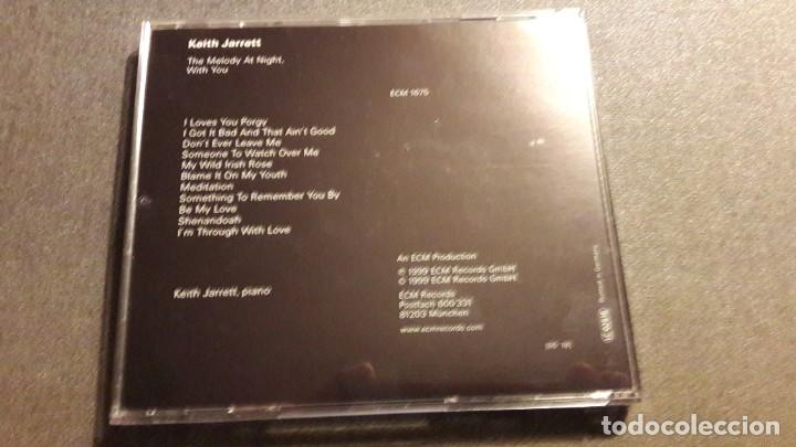 CDs de Música: CD - KEITH JARRETT: MELODY AT NIGHT (Alemania, 1999( - Foto 2 - 190499081
