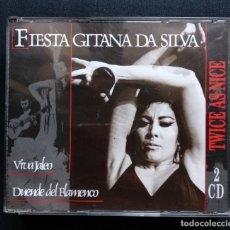 CDs de Música: DOBLE CD FLAMENCO FIESTA GITANA DA SILVA 1989. Lote 190502477