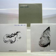 CDs de Música: LOTE 3 CD COLDPLAY : CLOCKS + THE SCIENTIST + DONT PANIC. Lote 190516730