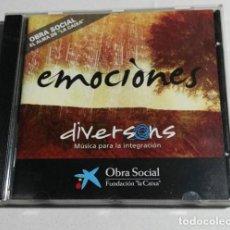 CDs de Música: CD EMOCIONES DIVERSONS MUSICA PARA LA INTEGRACIÓN FUNDACIÓN LA CAIXA 2008. Lote 190614843