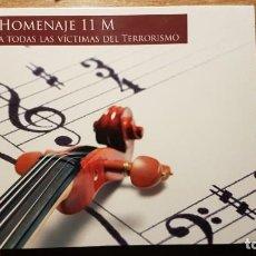 CDs de Música: CD HOMENAJE AL 11 M. JUAN CRUZ, DIANA PÉREZ, RAFAEL DÍAZ, MANOLO SANLÚCAR, CARMEN LINARES. Lote 190624771