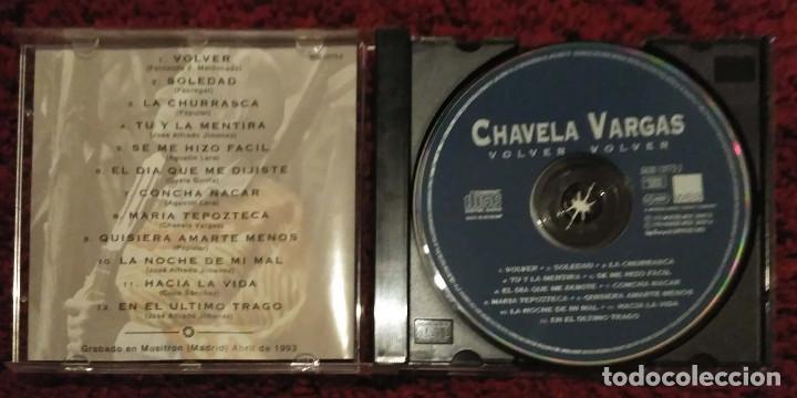 CDs de Música: CHAVELA VARGAS (VOLVER, VOLVER) CD 1996 - Foto 3 - 190757366