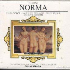 CDs de Música: NORMA: 2 CDS CALLAS; MARIO DEL MONACO NUEVO PRECINTADO. . Lote 190800977