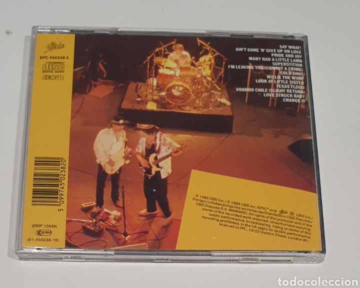 CDs de Música: STEVIE RAY VAUGHAN / EPIC 1986 CD / LIVE ALIVE - Foto 3 - 190875997