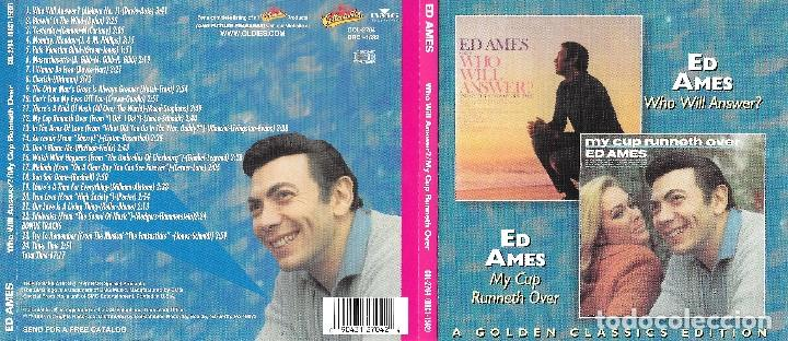 ED AMES - WHO WILL ANSWER? & MY CUP RUNNETH OVER (Música - CD's Melódica )