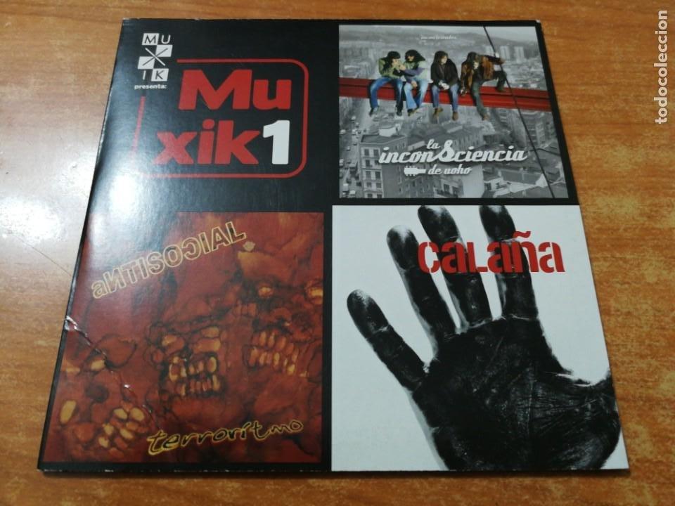 MUXIK 1 CD MAXI SINGLE EP CARTON LA INCONSCIENCIA DE UOHO CALAÑA EXTREMODURO PLATERO Y TU 6 TEMAS (Música - CD's Pop)